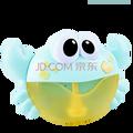 企鹅泡泡机 企鹅吹泡泡机玩具舞台儿童全自动不漏水电动洗澡泡泡器 蓝色吐泡洗澡螃蟹