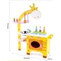 新款可愛長頸鹿木製廚房 仿真 扮家家酒玩具