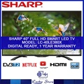 SHARP 40-INCH FULL HD SMART LED TV * LC-40LE380X * SMART TV * LED TV * LOCAL AGENT WARRANTY