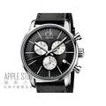 【蘋果小舖】 CK Calvin Klein 簡約時尚三眼計時皮帶錶-黑面白圈 # K2G271CX