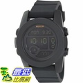 [105美國直購] Nixon Men's 男士手錶 Unit 40 A490001 Black Rubber Quartz Watch