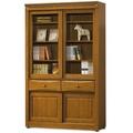 【MY傢俬】英式古典4尺推門中抽實木書櫃
