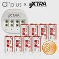 a+plus X VXTRA 商務型9V鋰充電組(充電器+9V充電池8入)