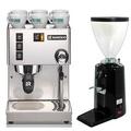RANCILIO Silvia 咖啡機 義大利製+500N磨豆機(黑色)