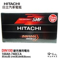 HITACHI 日立 DIN 100 100AH 汽車電池 BENZ BMW AUDI 電瓶 60038 免運 哈家人