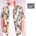 HERE! เสื้อฮาวายลายนกเงือกมาดากัสก้า+สับปะรด(สีเหลือง) /Yellow Hawaiian shirt