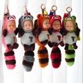 現貨 可愛睡眠娃娃公仔浣熊 睡萌娃娃 包包掛飾 鑰匙掛飾  情人節禮物 聖誕節禮物 開學必備