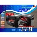 小俊汽車材料 HITACHI EFB70=HIT-E-70電瓶 適用:VOLVO XC70、S60一代、V40、V60