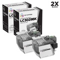 LD Compatible Ink Cartridge Replacement for Brother LC3029BK Super High Yield (Black, 2-Pack)