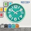 【RHYTHM日本麗聲】簡約亮彩色系時鐘/座掛兩用鐘(清新草綠)