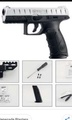 Wbb manual toy gun Beretta APX (black)