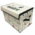 史努比 Snoopy 上掀式收納箱 好收納可摺疊 置物箱 收納箱 玩具箱 長方型 米色