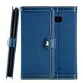 CASE SHOP HTC U11 側掀站立式皮套-藍