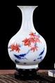 景德鎮陶瓷白色小花瓶擺件 02