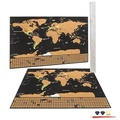 Scratch Off World Map Poster with US States and Countries- Track Your Adventures. Includes Scratch Pen, Pick, and Eraser Perfect for Traveler + Gift Tubing - intl