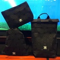 COMBO PACK Adidas 3d Originals Bag Black Gym Sack Backpack Clutch Issey Miyake