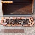 【G+居家】 橡膠植絨 迎賓戶外地墊 -德式方磚(56*102cm特色六角)