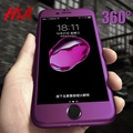 H&A Luxury 360 Protective Case For iPhone 7 6 6s Plus Full Hard PC Phone Case For iPhone 8 6 6s 7 Plus Cover With Tempered Glass