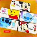 迪士尼 史迪奇 米奇 小熊維尼 正版方型帆布筆袋  鉛筆盒 文具 C01670