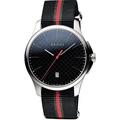 GUCCI 古馳  G-Timeless 古馳菱格紋時尚帆布腕錶-黑/40mm YA126321