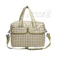 超輕款格紋媽媽包--日本GLADEE超輕款格紋媽媽包/大包/旅行包--秘密花園