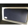 Apple iphone XS max 原廠皮革背殼/套 (深藍色)