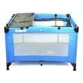 EMC 輕巧型遊戲床(藍色)+雙層架+尿布台