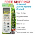 Universal Aircon Remote Control for most brands - Mitsubishi Toshiba Daikin Sanyo Samsung Fujitsu National LG and etc.