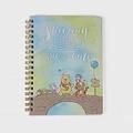 《sun-star》迪士尼水彩暈染童話系列B6線圈筆記本(小熊維尼)