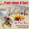 ★Fruit chips 8Sort SET★30g/25g/20g/15g/thinly sliced dried/sweet and sour/Apple/Pear/Banana/Kumquat/Strawberry/Tangerine/Pineapple/Sweet Corn/All F lat Price/gobiz-107