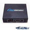 kingnet-HDMI分配器含電源 全新 一進二出 1x2HDMI