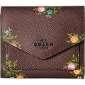 COACH Womens Wallet in Cross Stitch Floral Print Dk/Oxblood Cross Stitch Floral One Size - intl