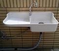 【ST-102涮涮樂】(附水龍頭組)涮涮樂掛壁式塑鋼洗衣槽~工廠直營~陽台水槽可配搭洗衣機使用-團購有量工地可專案報價,