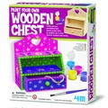 【4M 創意 DIY】Paint Your Own Wooden Chest 創意塗鴨小木櫃