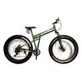 EXPERT GROUP จักรยานพับ ล้อโต เฟรมเหล็ก Hi-ten 7 Speeds ดิสเบรคหน้าหลัง (สีเขียว)