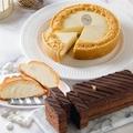 【艾波索】巧克力黑金磚18cm+無限乳酪6吋贈千層冰心泡芙1入(蘋果日報評比雙冠軍)