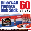 Elmer's Elmers All Purpose School Glue Sticks, Washable 60 Pack (Cheapest in SG)