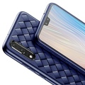 Handsome-Baseus Luxury Pattern Case For Huawei P20 Pro Creative Grid Weaving Silicone Case For Huawei P20 Pro Ultra Thin Phone Accessories