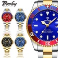 『TRENDY』TEVISE特威斯 水鬼 t801 男士休閒不鏽鋼帶日本機芯重工機械錶男錶手錶【SB00A006】