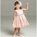 《童伶寶貝》MG037-彌月白色禮服女寶寶嬰兒滿月 粉色禮服 花童 周歲拍照寫真 造型服