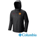 【Columbia哥倫比亞】男-曼聯單件式防水外套-黑色 機能.戶外.防潑水