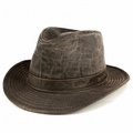 帽子帽子男士寬邊印第安那鐘斯 UPF 50 + 甚而帽子軟呢帽和進口印第安那鐘斯皮革款式面料暗棕色男人的禮物父親一天戶外 [fedora] (郵購的帽子和帽子) [10P05Nov16] ELEHELM HAT STORE