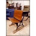 美國古董實木學生桌椅組 復古老木椅 老木桌 舊椅子 [CHAIR-0114]