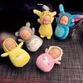 新款可愛睡眠娃娃毛絨鑰匙扣 卡通萌娃包包鑰匙鏈圈掛件禮品