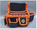 老池工具 台製Tenda 黑熊牌 板模加高八格釘袋 工具袋 零件袋 收納袋 置物袋 釘袋 HA-A104