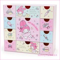 asdfkitty可愛家☆美樂蒂粉紅色桌上型抽屜櫃/收納置物櫃-日本正版商品