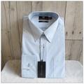 男生襯衫 MANHATTAN 美好挺 長袖 藍白直條紋 領圍15.5吋 袖長86公分 經典版型 原價2680 [玩泥巴]