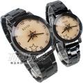 KEVIN 轉動星辰 造型時尚流行錶 立體多角切割鏡面 IP黑電鍍 男錶 女錶 對錶 KV2068星白大+KV2068星白小