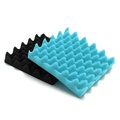 2Pcs Acoustic Foam Panel Sound Stop Absorption Treatment Proofing Pyramid Square