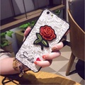Rose Lace Embroidery TPU Phone Case Back Cover for OPPO R9S Oppo R9s